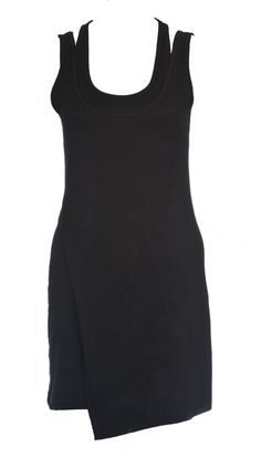 Kasa Top- Stunning tunic featuring a overlay neck line with asymetric hem and double layer front drape.