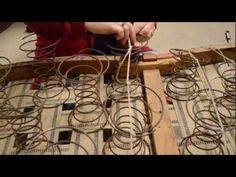 upholstery video. how to tie springs - YouTube