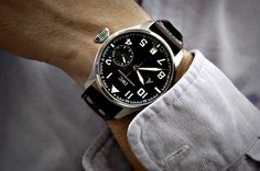 watchanish:    The more unusual St Exupery edition of the IWC big pilot
