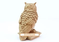 Owl - High quality hand-carved Top for Newel Size: 9.3 x 4.1 x 5.5 (267mm x 105mm x 140mm). From oak (if you want from beech, write to me about it). Absolutely new! Hand-carved by top quality master. I ACCEPT PAYPAL If you have any question with your purchase you can just contact with