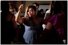 Wedding at Barr Mansion and Artisan Ballroom  [ www.barrmansion.com] in Austin TX.  © Jenny DeMarco Photography [ www.jennydemarcophotography.com ] ....   guest dancing at the wedding reception in the Artisan Ballroom