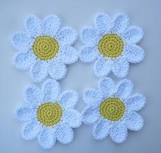 Crochet Daisy Coasters Free Pattern