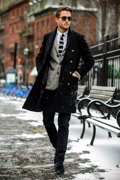 veckans outfit v48 obsid mörk rock grå kofta