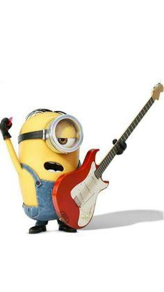 Rock Minions What, Happy Minions, Minions Love, Minion Jokes, Minions Quotes, Minions Clips, Minion Rock, Minion Mayhem, Yellow Guy