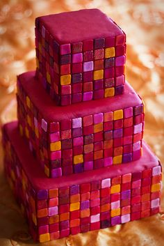 With fondant or poured sugar tiles