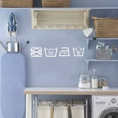 Create the perfect utility room. We ask Beautiful kitchens editor, Ysanne Brooks to share her top tips for utility room design with our video. Room Makeover, Utility Room Storage, Rooms Country, Room Design, House, Blue Rooms, Home, Blue Laundry Rooms, Laundry Room Decals
