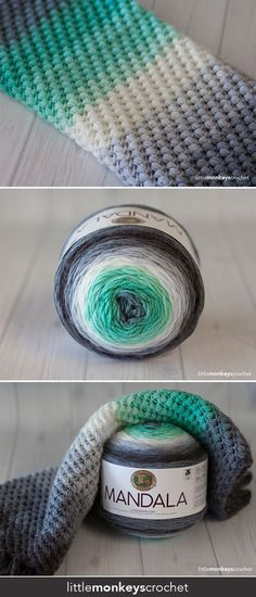 Spring Bean Cowl Crochet Pattern - free cowl crochet pattern by Little Monkeys Crochet - made with Lion Brand Mandala Yarn Crochet Simple, Crochet Diy, Crochet Gratis, Crochet Ideas, Simple Crochet Blanket, Diy Crochet Projects, Crochet Birds, Crochet Food, Beginner Crochet
