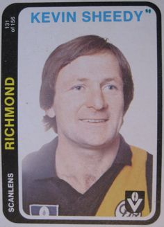 Kevin Sheedy, Richmond Football Club (Scanlens Football Cards).