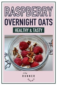 This simple and delicious Raspberry Overnight Oats makes a filling hearty breakfast that you can grab and have on a early morning run! Overnight Oats are now a go-to breakfast choice for every early riser, as it is easy to prepare with staple ingredients and ready in the morning for a quick filling bite! Click to make easy, filling, and delicious overnight oats! Healthy Food Habits, Good Healthy Snacks, Healthy Diet Recipes, Autumn Recipes Lunch, Brunch Recipes, Raspberry Overnight Oats, Oats Recipes, Dessert Bars, Early Morning