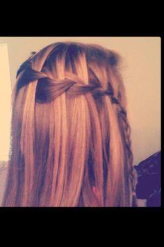 The waterfall braid in my friends hair :)