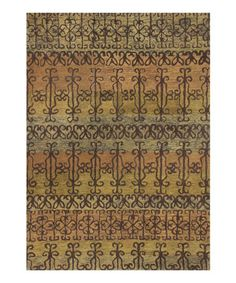 Loving this Spice Syrian Gates Wool Rug on #zulily! #zulilyfinds