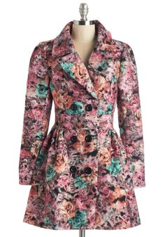 Lucid Up Coat. Slip into this fanciful floral coat by Tatyana and let your imagination guide you through the day. #multi #modcloth