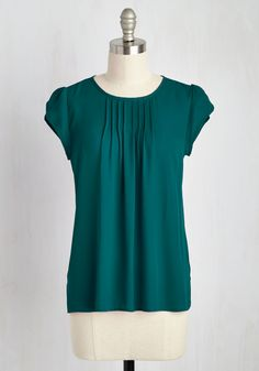 Charmer in Charge Top in Teal, @ModCloth