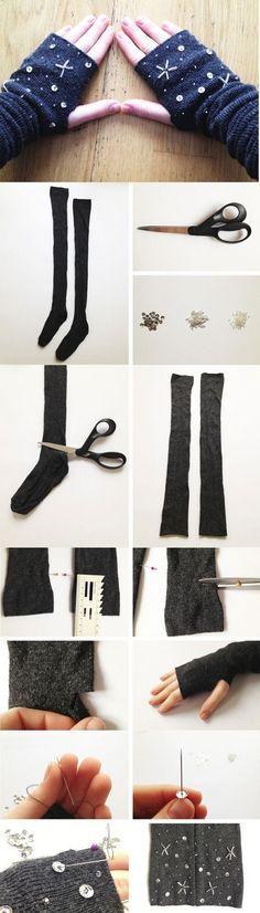 8 Paso a paso para hacer tus propios guantes contra el frío ⋮ Es la moda