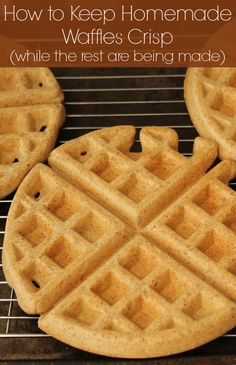 Wondering how to keep homemade waffles crisp and warm? This simple tip will ensure they stay crispy on the outside and warm and fluffy on the inside.