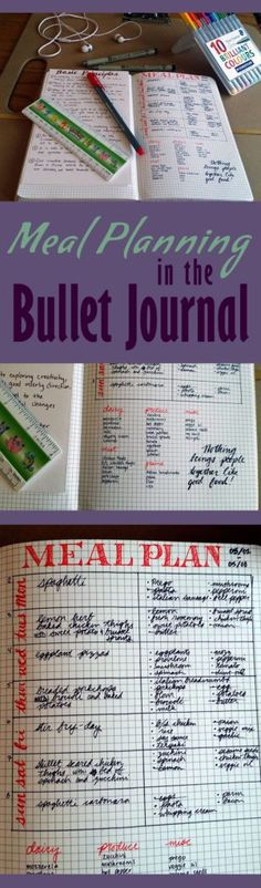Meal Planning in the Bullet Journal | Littlecoffeefox.com