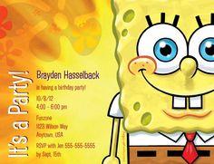 Spongebob Birthday Invitation Via Etsy Robbies St - Birthday invitation spongebob background