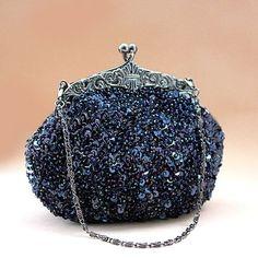 Höter Elegante Damen Perlenbestickte Clutch, Abendtasche Handtasche Für Party, Hochzeit