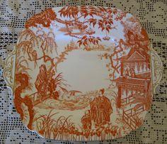 Vintage Royal Crown Derby Asian Platter. $25.00, via Etsy.