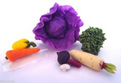 Dollhouse Miniature Assorted Mixed Vegetables Set/7  1:12 Scale  New in Package #MiniatureWorld