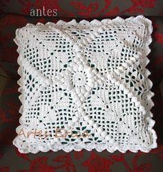 Crochet Pillow Cases, Crochet Cushion Cover, Crochet Bedspread, Crochet Cushions, Crochet Diagram, Filet Crochet, Crochet Motif, Crochet Doilies, Pillow Crafts