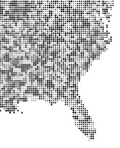 Dot grid maps with d3.js https://github.com/riccardoscalco/gridmap