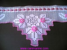Shrink your URLs and get paid! Crochet Lampshade, Crochet Bedspread, Crochet Curtains, Crochet Pillow, Crochet Art, Crochet Home, Love Crochet, Thread Crochet, Filet Crochet