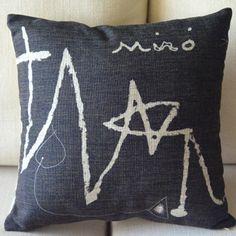 【現代絵画の名作】 ジョアン・ミロ Joan Miro クッションカバー 45x45cm