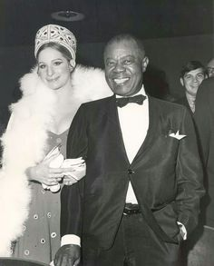 Barbra Streisand and Louis Armstrong