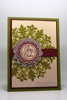 Gothdove Designs - Alison Barclay: Festive Friday Challenge #19 - Stampin' Up! Medallion Christmas Card