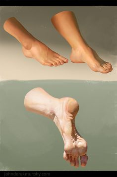 Feet study 2, John D...@丶范采集到D.五官参考头像绘制手足(919图)_花瓣美女