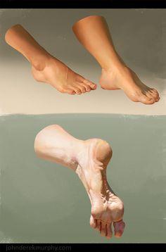 Feet study 2, John D...@丶范采集到D.五官参考\头像绘制\手足(919图)_花瓣美女