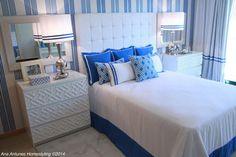 Cobalt Blue Bedroom beach-style-bedroom