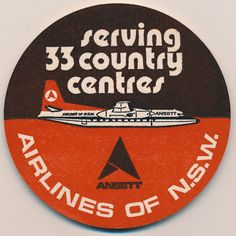 Air NSW drinks coaster - remember those? Australian Airlines, Australian Icons, Australian Vintage, Domestic Airlines, Airline Logo, Air New Zealand, Come Fly With Me, Luggage Labels, Drink Coasters