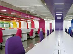 colorful office interior design ideas http://pinterest.com/Edeskco/
