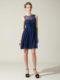BHLDN Silk Chiffon Bow Dress