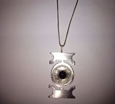 Hand made Silver pendant and silver chain by strangehumanity, $100.00