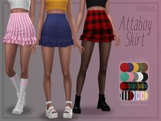 The Sims 4 Trillyke - Attaboy Skirt Sims Four, The Sims 2, Sims 4 Teen, Sims 4 Mm Cc, Sims 4 Cas, Mods Sims, Sims 4 Mods Clothes, Sims 4 Clothing, Rock Clothing