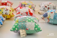 cute ninepatch pincushions