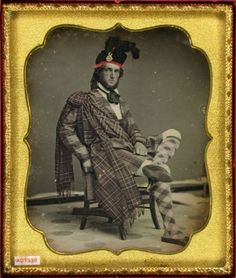 ca. 1850's, [Daguerreotype portrait of a Scotsman wearing ethnic costume]    via the Daguerreian Society, Greg French Collections