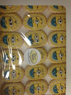 Minion Cookies Minion Cookies, Cookie Ideas, Minions, Madness, Palette, Cake, Desserts, Food, Tailgate Desserts