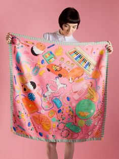 Bedroom Floor Silk Scarf | Karen Mabon