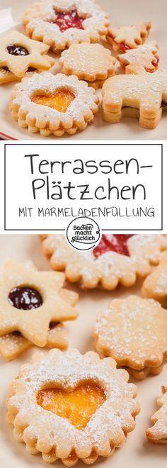Die besten Spitzbuben bzw. Terrassenplätzchen der Welt! Wunderbares Klassiker-Rezept meiner Uroma Margarethe. Die gefüllten Weihnachtsplätzchen mit Marmelade gelingen auch Backanfängern.