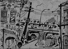 """""""Cotidiano"""", Caneta sobre papel, 29,7 x 21 cm, 2014"""