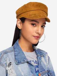 SHEIN offers Plain Baker Boy Cap   more to fit your fashionable needs. 0800b2c35d6