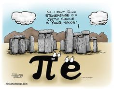 Not so humble Pi: Pi at Stonehenge Math Cartoons, Math Comics, Far Side Cartoons, Pi Jokes, Jokes Pics, Hilarious Jokes, Funny, Math Jokes, Math Humor