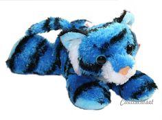 "Aurora Tanya BLUE TIGER 8"" Flopsie Plush Jungle Stuffed Animal Wild Cat NEW #Aurora"