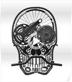 Millions of unique designs by independent artists. Find your thing. #thightattoos Cycling Tattoo, Gear Tattoo, Bicycle Tattoo, Bike Tattoos, Eagle Tattoos, Bicycle Art, Cycling Art, Wolf Tattoos, Animal Tattoos