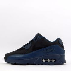 Nike Air Max 90 Winter Premium Men's Casual Trainers Shoes Squadron Blue/Black #Nike #CasualTrainersShoesSneakers