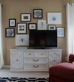 Create a gallery wall to camouflage a TV - by Emily A. Clark